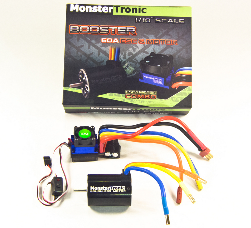 Monstertronic Brushless Combo Regler Motor 10T 3900KV 60A
