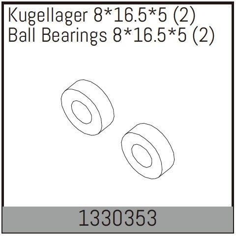 Absima Kugellager 8*16.5*5 (2)