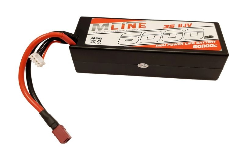 MLine High Power LiPo Akku 60/100C 3S 11,1V 6000mAh