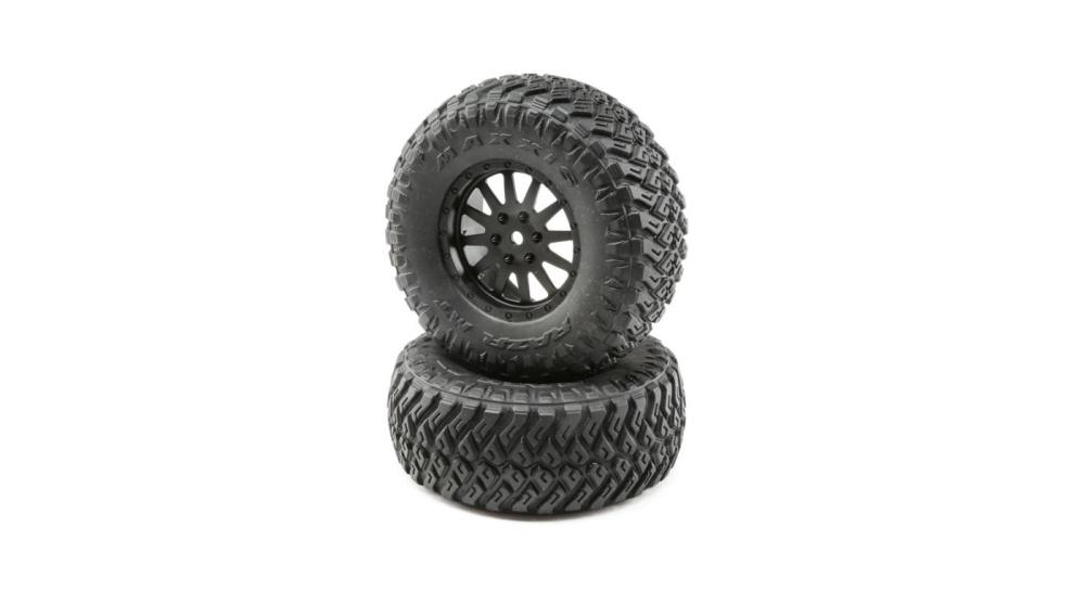Losi Wheel and Tire Mounted (2): TENACITY SCT (LOS43015)