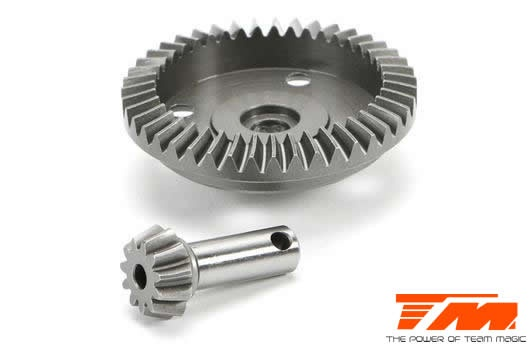 Team Magic Option Part - E5 - Machined Bevel Gear - 43T/11T