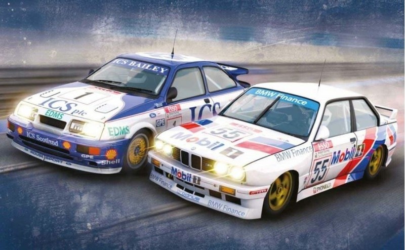 Scalextric TC Legends - Ford Sierra RS500 / BMW E30