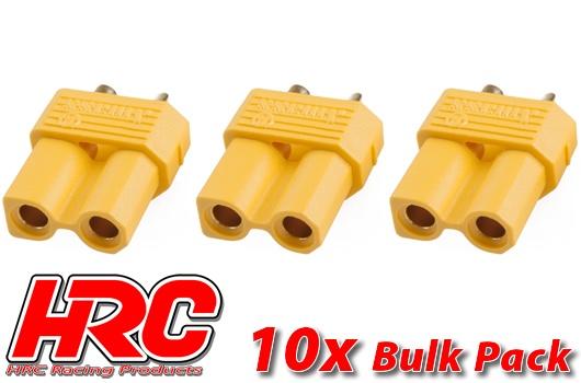 HRC Racing Stecker - Gold - XT30 - weibchen (10 Stk.)