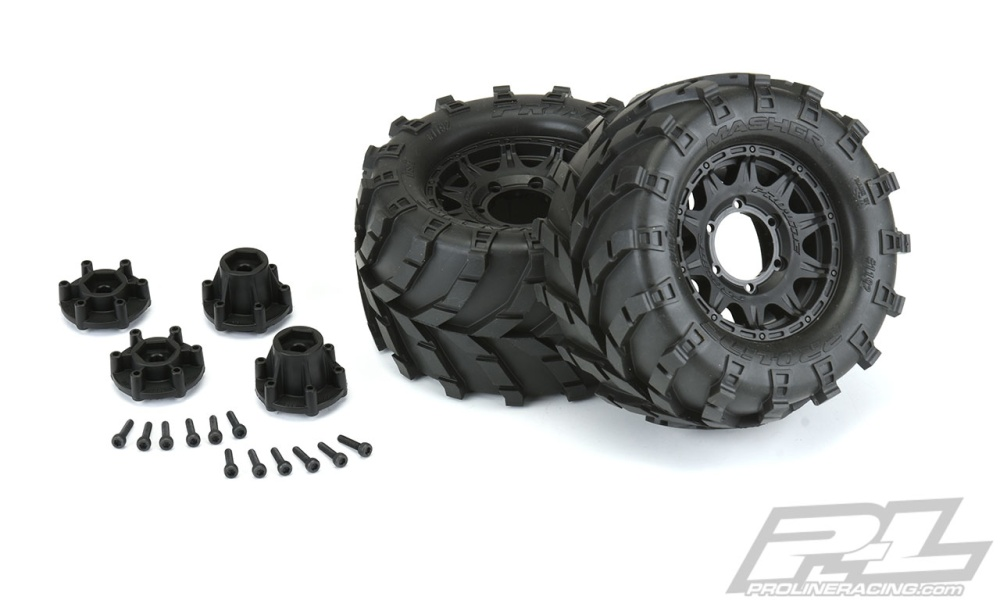 Pro Line Masher 2.8 All Terrain TiresMounted on Raid Black