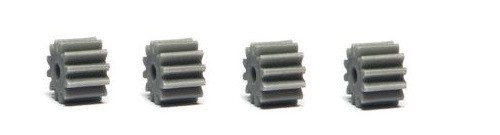 NSR SW Soft Plastic Pinions 12T (4) Grey 6.75mm