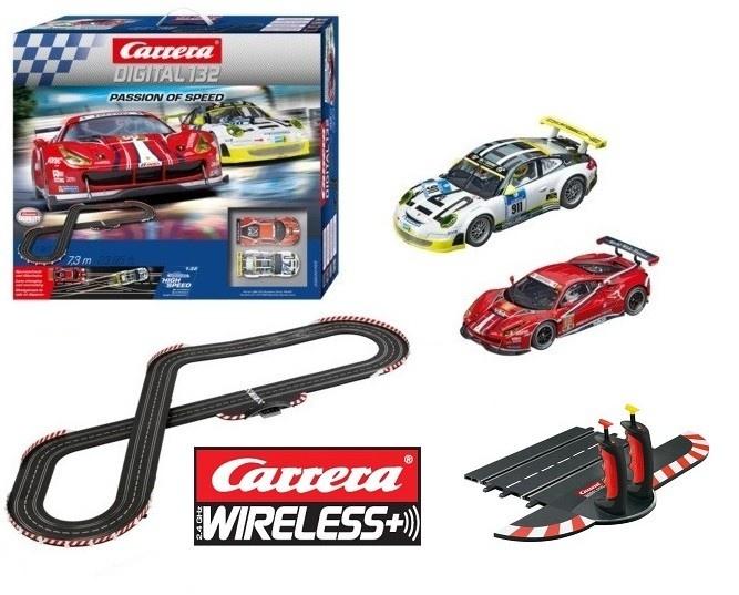 Carrera Digital 132 Passion of Speed + Carrera Wireless+