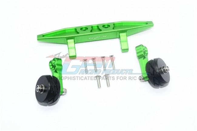 GPM aluminium rear adjustable wheelie - 9PC Set for Traxxas