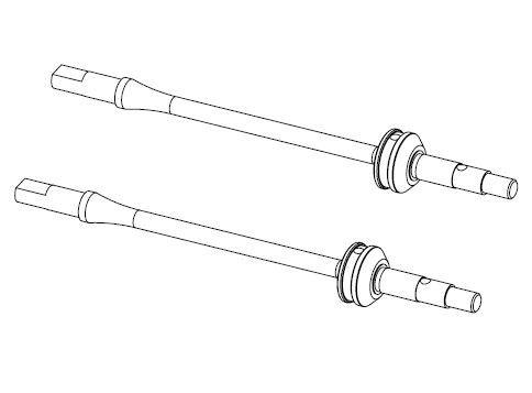 Carson MC-10 Antriebswellen CVD vorne 1:10 (2)