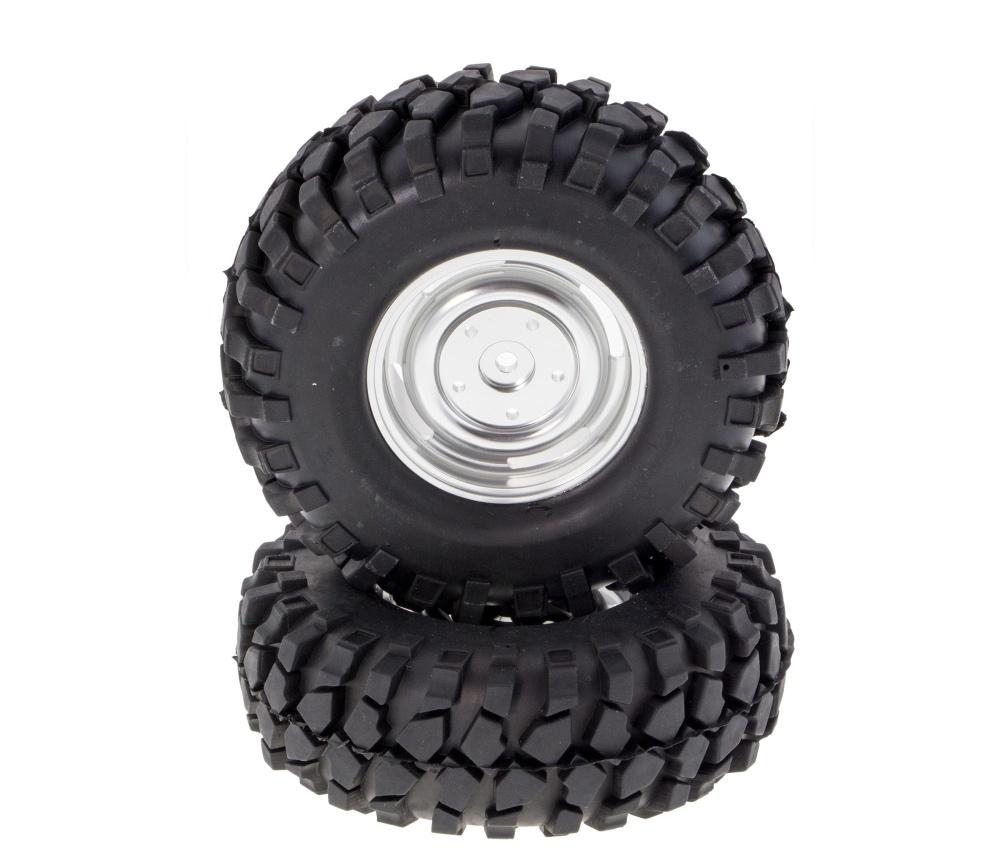 Crawler Räder 1:10 ALU Silber 96mmx40mm 2 Stk