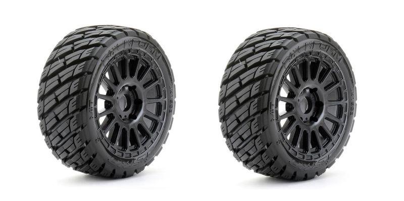 JETKO Extreme Tyre 1:8 Buggy Rockform Belted on Black Rim