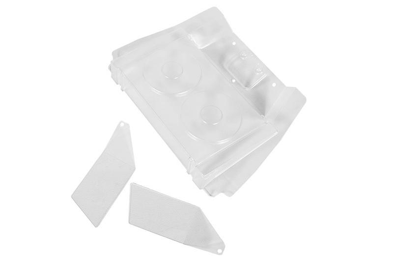 Axial - Yeti XL Rear Interior Set.040 Clear Yeti XL