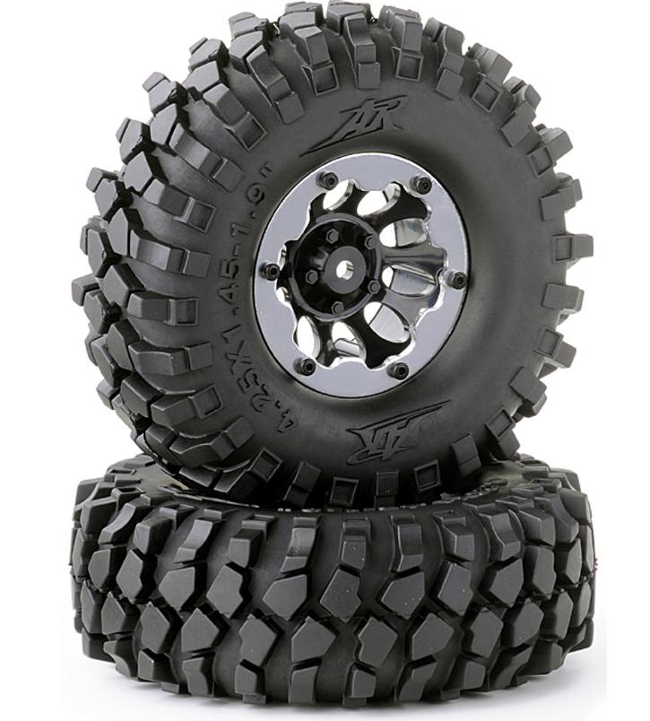 Carson Beadlock Räderset Crawler schwarz 108mm 1:10, 2 Stück