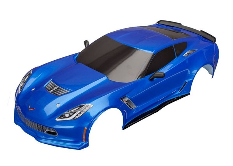 Traxxas Karo Chevrolet Corvette Z06 blau