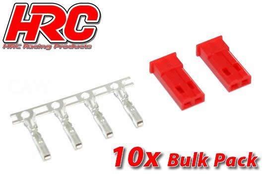 HRC Racing Stecker - JST / BEC männchen (10 Stk.)