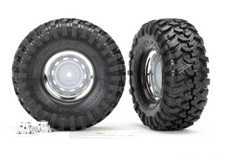 Traxxas Reifen auf Felgen 1.9 chrom (2)