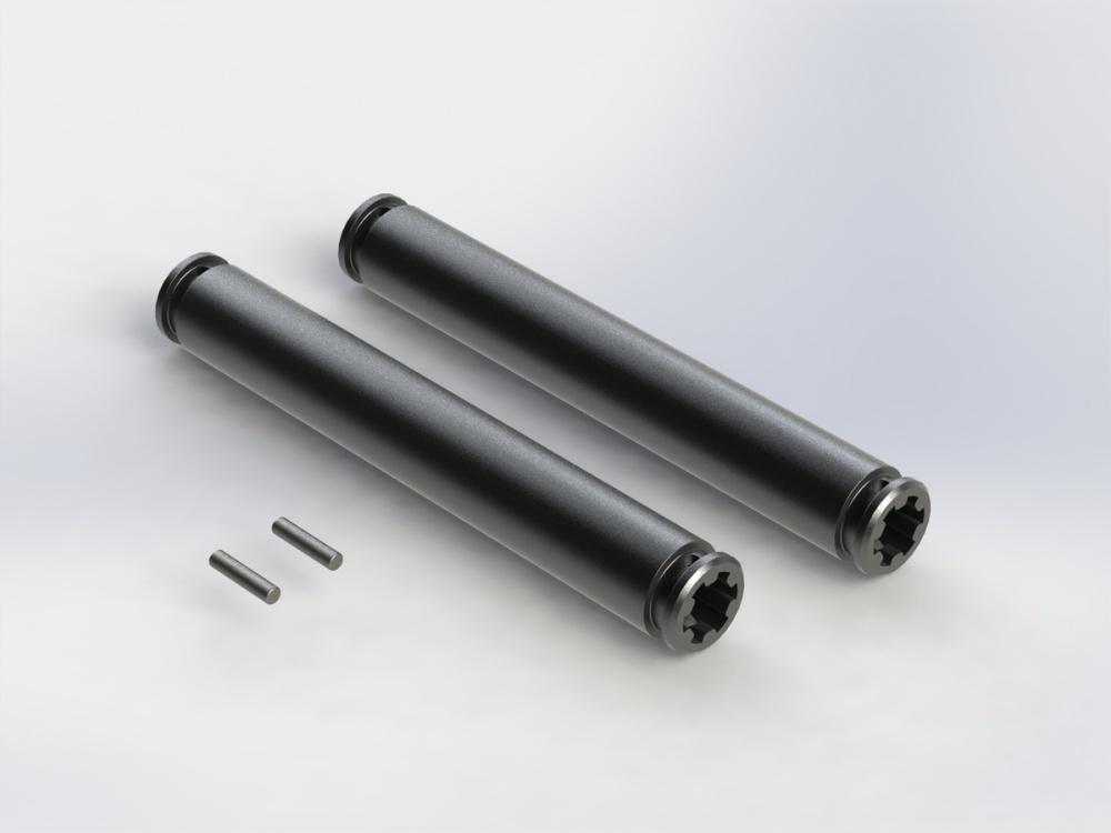 Arrma SLIDER ANTRIEBSWELLE 80mm (DUNKELGRAU) (2Stk)