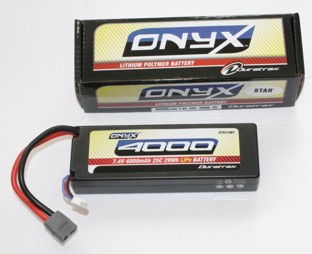 Duratrax Onyx LiPo Stickpack 7.4V 4000mAh 25C Deans