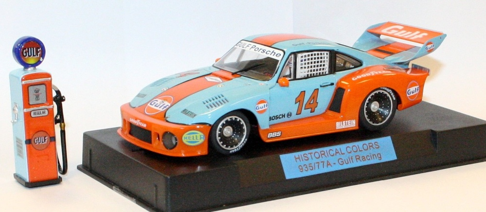 Sideways Historical Colors Porsche 935/77A Gulf Racing