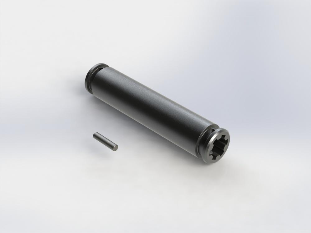 Arrma SLIDER ANTRIEBSWELLE 53mm (DUNKELGRAU) (1Stk)