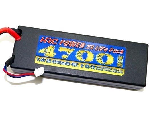 HRC Racing Akku -  LiPo 2S - 7.4V 4700mAh 40C - Hard Case -