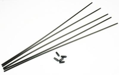 TT Antennen-Röhrchen BLACK Team Style Schwarz (5)