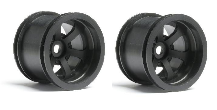 HPI Scorch 6-Speichen Felgen schwarz (2.2in), 2 St.