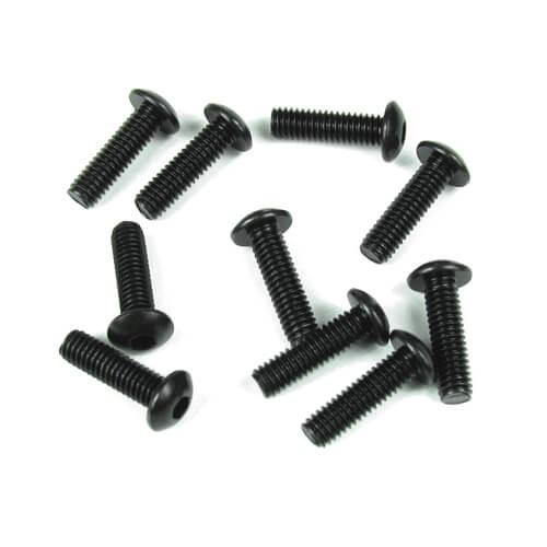Tekno RC TKR1444 - M4x12mm Button Head Screws (black, 10pcs)