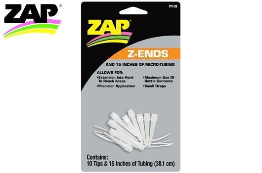 Zap Kleber Z-Ends micro tubing - 10 Extended Tips +