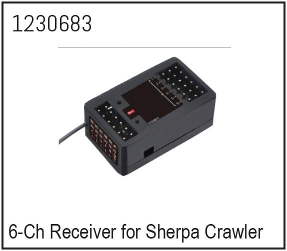 Absima 6-Kanal Empfänger für CR3.4 Crawler Ersatzteil für