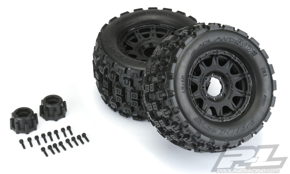 ProLine Badlands MX38 3.8 Monstertruck +Raid 8x32 Felge v/h