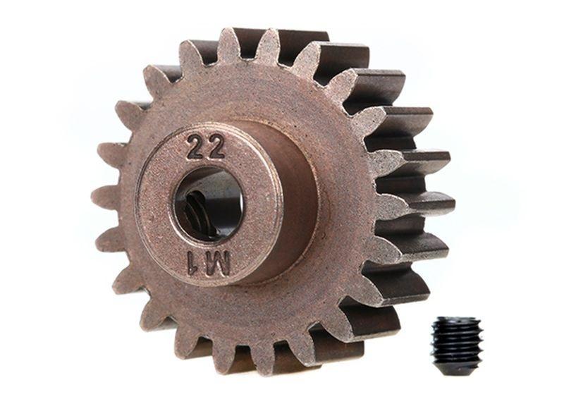 Traxxas Gear, 22-T pinion (1.0 metric pitch)(fits 5mm shaft)