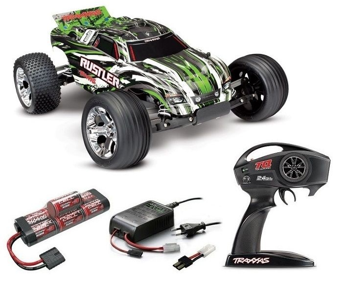 Traxxas Rustler 2WD Monstertruck brushed (12T+XL-5)TQ 2.4GHz