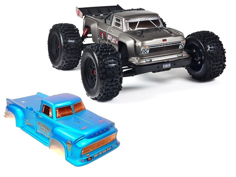 Arrma Outcast 6S BLX 4WD Stunt Truck 2.4GHz RTR 1:8 silber