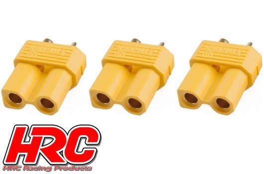 HRC Racing Stecker - Gold - XT30 - weibchen (3 Stk.)