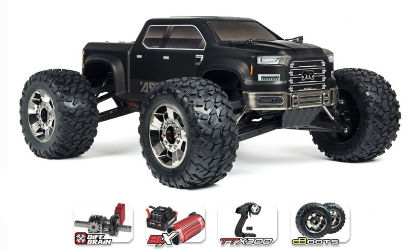 Arrma RC Nero 6s Big Rock 4WD BLX MT 2.4GHz schwarz RTR 1:8