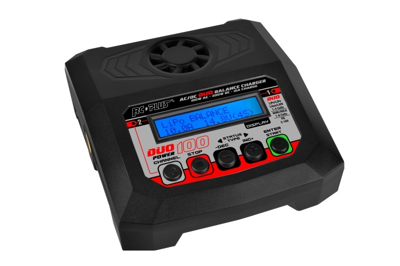RC Plus - Power Duo 100 Charger - AC 100W - DC 2X 100W -