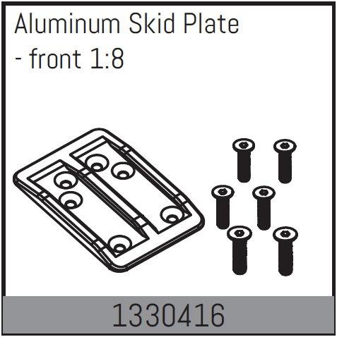 Absima Aluminium Skid Platte - vorne 1:8