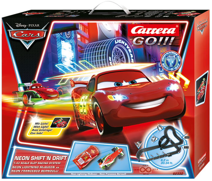Carrera Go!!! Disney/Pixar Neon Shiftn Drift