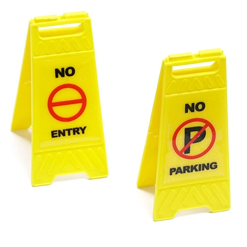 Yeah Racing 1/10 Scale Traffic Sign Accessory 6pcs