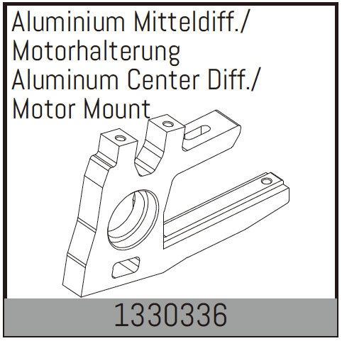 Absima Aluminium Mitteldiff./Motorhalterung