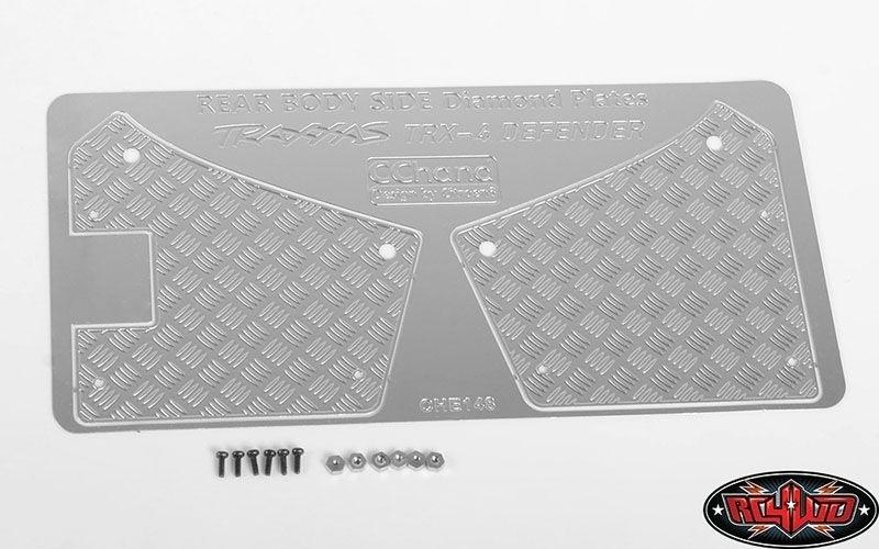 RC4WD Diamond Plate Rear Fender Quarters für Traxxas TRX-4