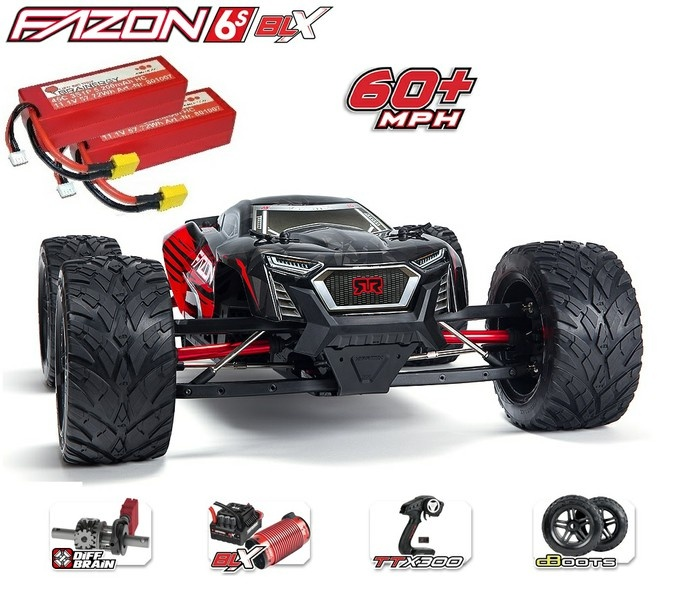 Arrma RC Fazon 6s 4WD Monstertruck 2.4GHz 1:8 -SPARSET-