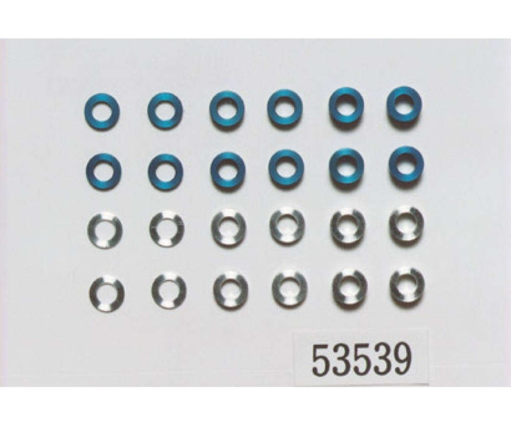 Tamiya Aluminium Buchsen-Set 5,5/3mm blau/silber
