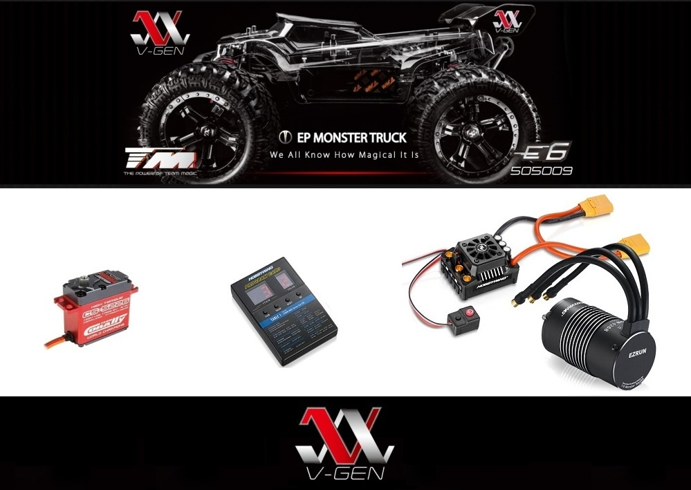 Team Magic E6 III V-GEN 4WD Elektro Monster-Truck ARR (no