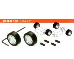 Scalextric 2x Komplettrad hinten RALLY