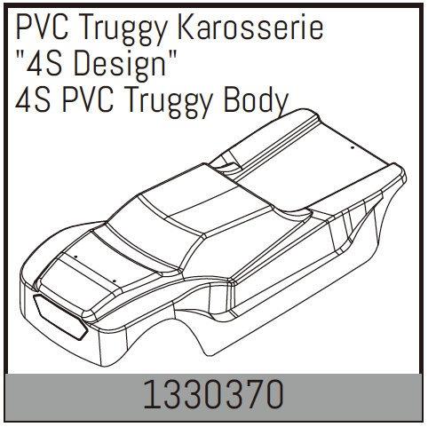Absima PVC Truggy Karosserie 4S Design
