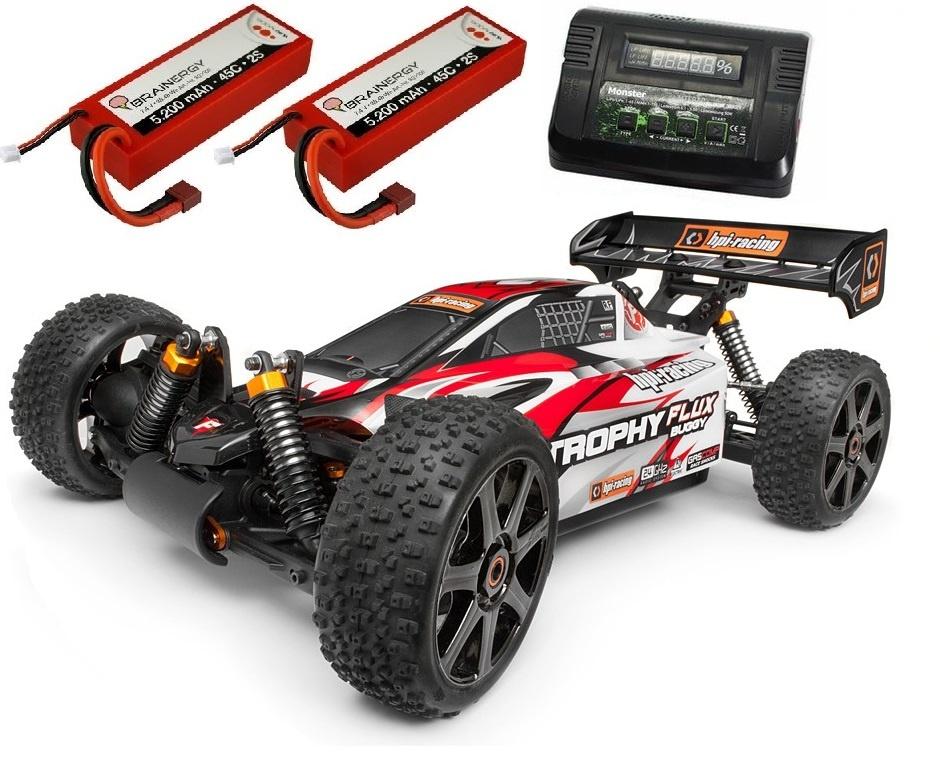 HPI Trophy 4WD ElektroBuggy Flux 2.4GHz RTR 1:8 -SPARSET 2-