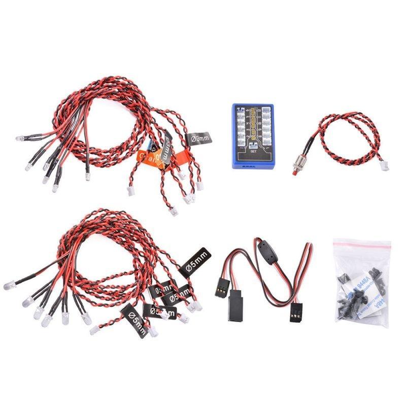 H-Speed LED-Kit 12x 4,8-6,0 Volt mit Kontrollbox Multicolor