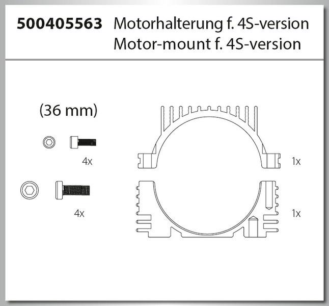 Carson X8EB Specter BL 4S/6S Motorhalter 4S Version