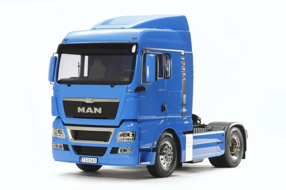 Tamiya MAN TGX 18.540 franz.blau vorlackiert Bausatz 1:14